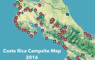 Campsites of Costa Rica 2016 map