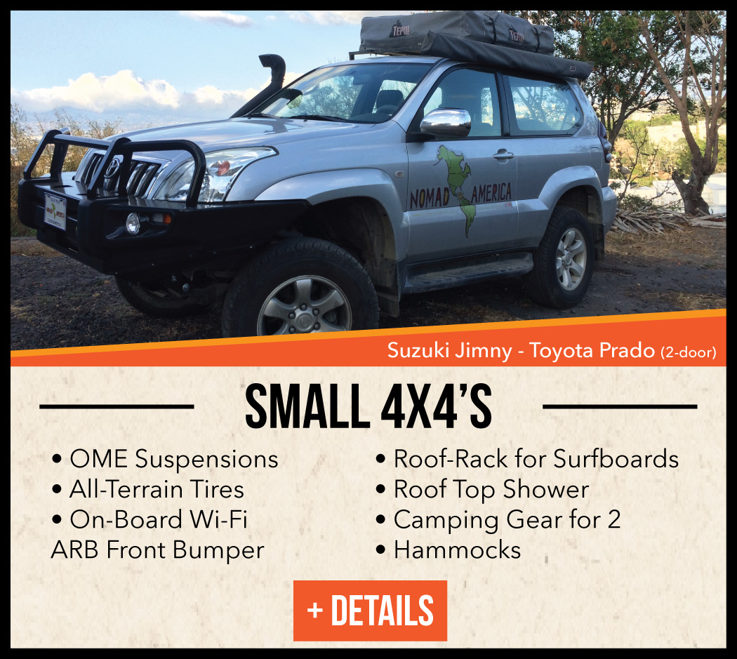 camping equipped 4x4's